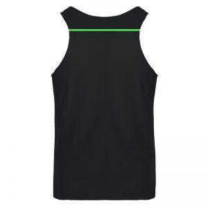debardeur technique runnek ultravest noir vert fluo homme dos