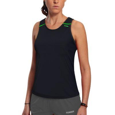 debardeur technique runnek ultravest noir vert fluor femme