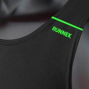debardeur technique runnek ultravest noir vert fluor femme detail