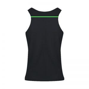 debardeur technique runnek ultravest noir vert fluor femme dos