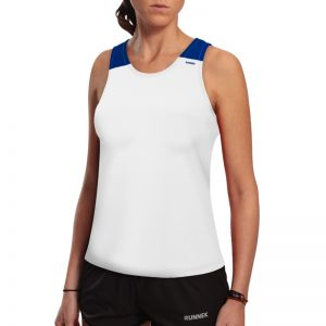 debardeur technique runnek vest blanc bleu royal femme