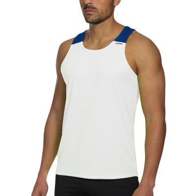 debardeur technique runnek vest blanc bleu royal homme