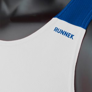 debardeur technique runnek vest blanc bleu royal homme detail