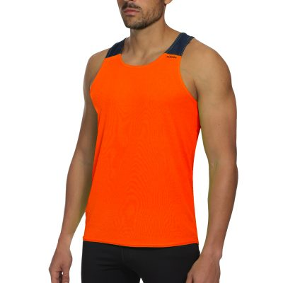 debardeur technique runnek vest orange fluo bleu navy homme
