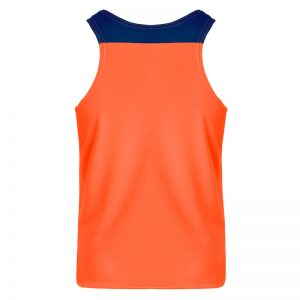debardeur technique runnek vest orange fluo bleu navy homme dos