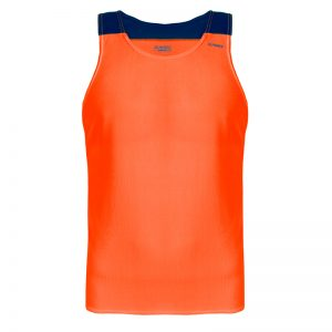 debardeur technique runnek vest orange fluo bleu navy homme face