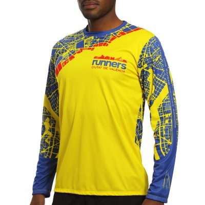 maillot athletisme manches longues runnek homme