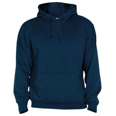 sweat shirt capuche coton bleu navy