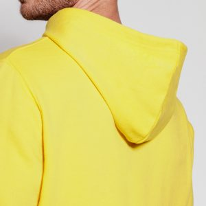 sweat shirt capuche coton jaune dos
