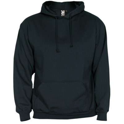 sweat shirt capuche coton noir