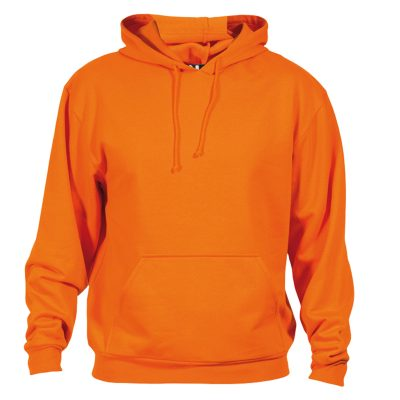 sweat shirt capuche coton orange
