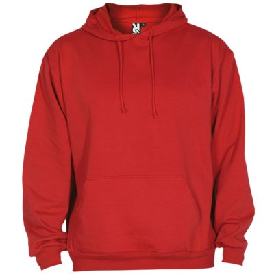 sweat shirt capuche coton rouge