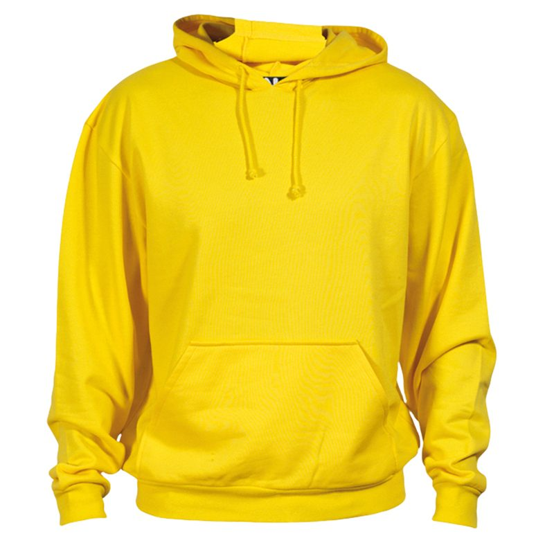 sweat shirt coton jaune
