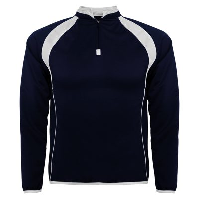 sweat shirt sport runnek bleu navy blanc