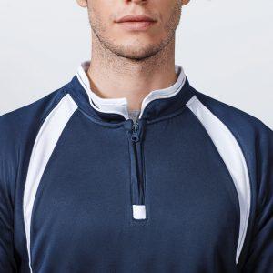 sweat shirt sport runnek bleu navy blanc face
