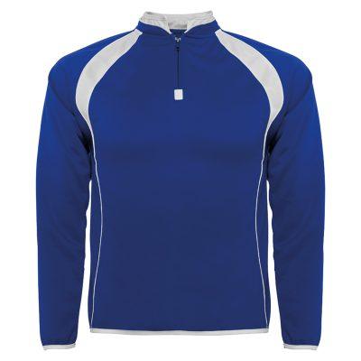 sweat shirt sport runnek bleu royal blanc