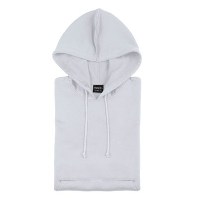 sweat shirt technique capuche blanc