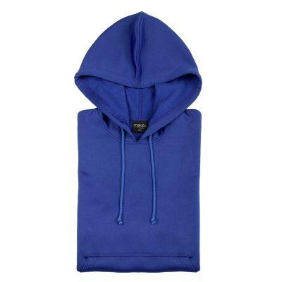 sweat shirt technique capuche bleu royal