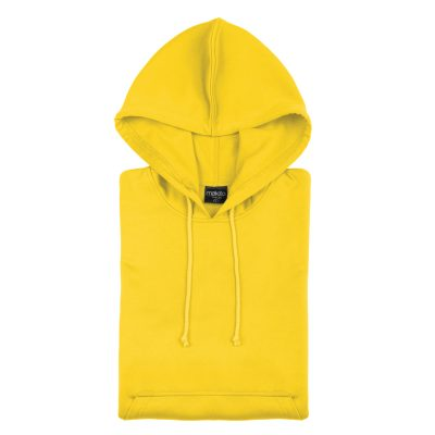 sweat shirt technique capuche jaune