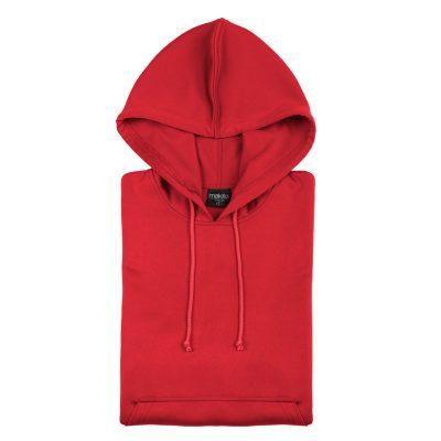 sweat shirt technique capuche rouge