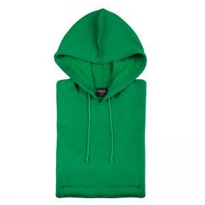 sweat shirt technique capuche vert
