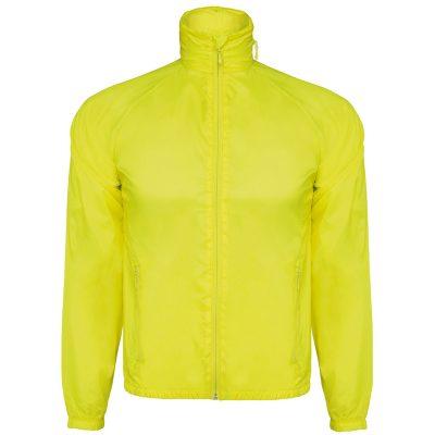 veste technique capuche jaune