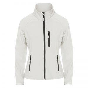 veste technique soft shell femme blanc