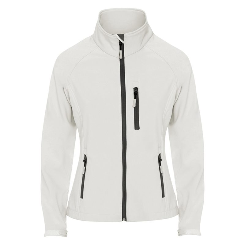 veste technique soft shell femme blanc