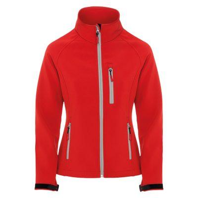 veste technique soft shell femme rouge