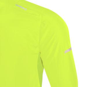 veste coupe-vent jaune fluo
