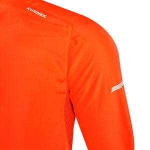 veste coupe-vent orange fluo